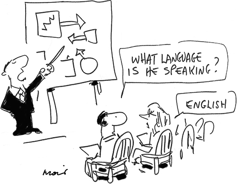 cartoon describing plain english fundamentals
